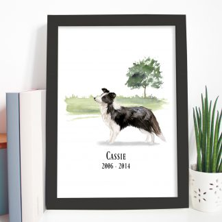 collie dog pet loss gift