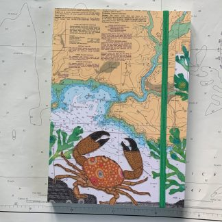 Crab at Wembury Bay Notebook Hannah Wisdom Textiles