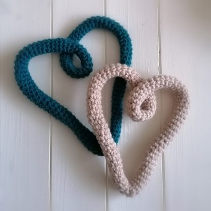 crocheted heart decorations
