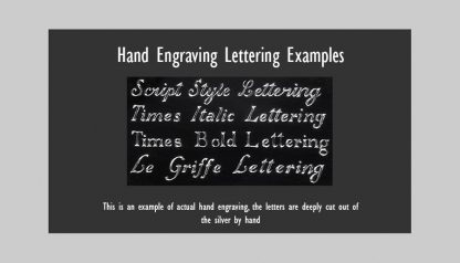 Font Style for Hand Engraving