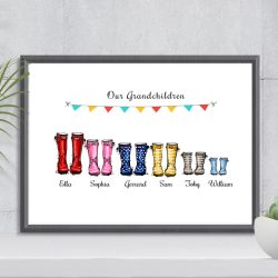 personalised print gift for grandparents