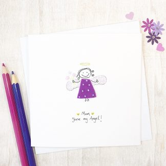 Handmade You're My Angel Card for Birthday, Mother's Day