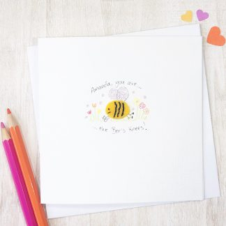 Handmade, personalised Bees Knees Any Occasion Card