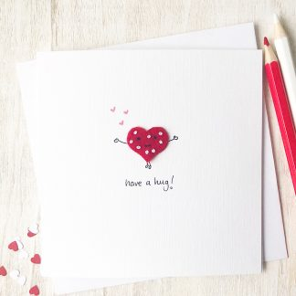 Handmade, personalised Have a Hug card