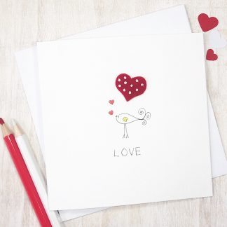 Handmade Love Bird card for any occasion