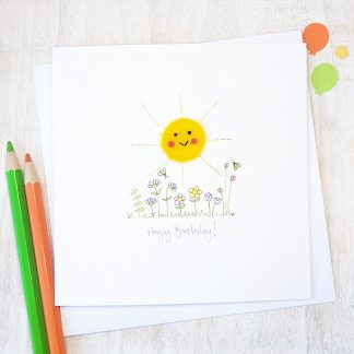 Handmade, Personalised Sunshine Any Occasion Card