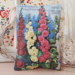 Hollyhock Vintage Seed Packet Fabric Gift