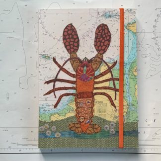 Lobster at Padstow notebook Hannah Wisdom Textiles