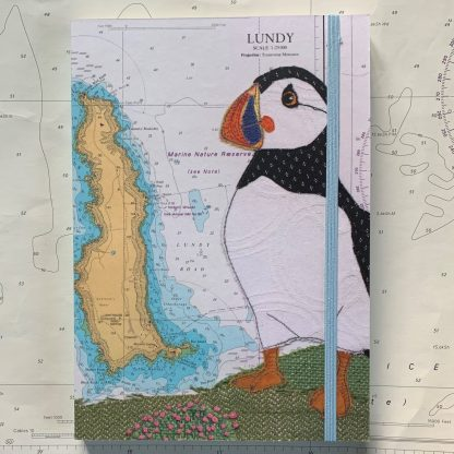 Puffin at Lundy Notebook Hannah Wisdom Textiles