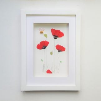 poppy, sea glass poppies, valentine's gift