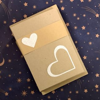 tjdesignsuk glittery heart note cards set of 10 packed and ready