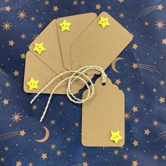 tjdesignsuk star button gift tag set of 10 on blue star background