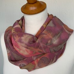 Bright pink and red scarf