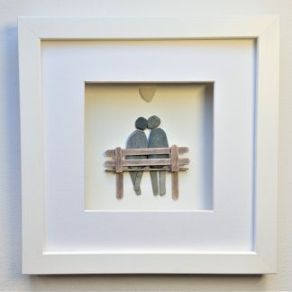 valentines gift couple on bench anniversary gift