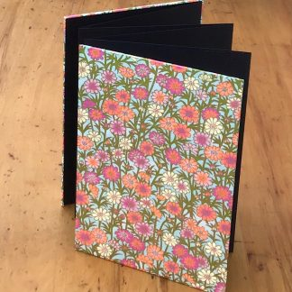 Concertina photo album with summer flowers