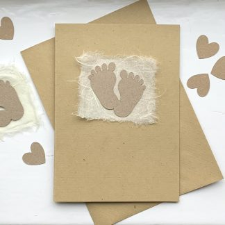 Baby feet natural A6 card