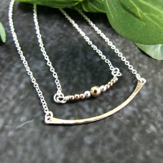 Rose-Gold-Filled-and-Silver-Layered-Necklace-bead-and-bar