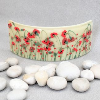 Fused Glass Poppy Curve
