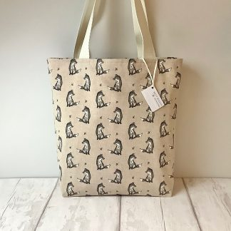 Grey Fox Tote Bag