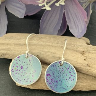 Light turquoise and purple earrings