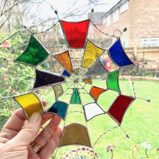 Stained glass cobweb