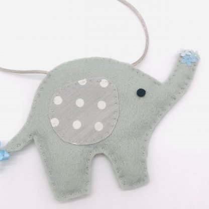 Blue and Grey Elephant Bunting