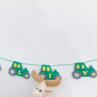 Green Tractor Bunting