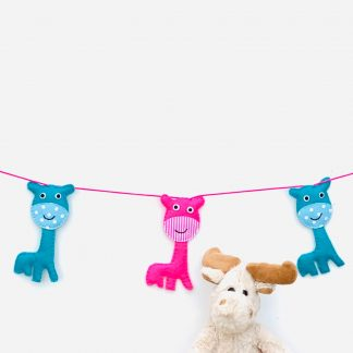Pink anf Turquoise Giraffe Bunting