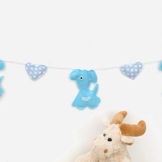 Blue puppy bunting