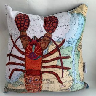 Lobster at padstow cushion Hannah Wisdom Textiles