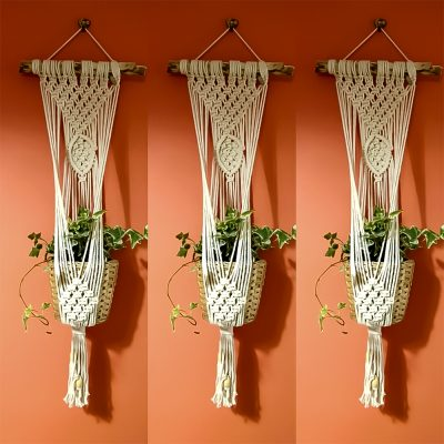 Macrame Plant Hanging with Beads