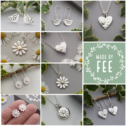 Made By Fee sterling silver daisy jewellery
