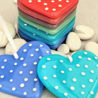 Rainbow of Spotty Hearts