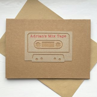 Personalised Retro Mix Tape Card
