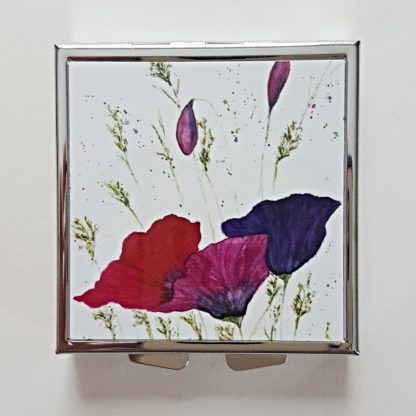 Pill or Earring Box featuring Poppies artwork