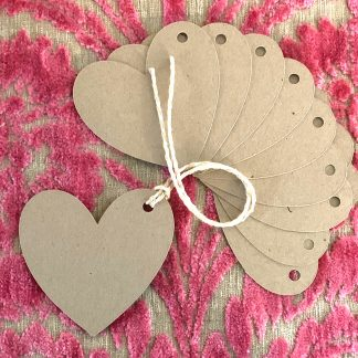 heart shaped gift tags set of 10 photo 2