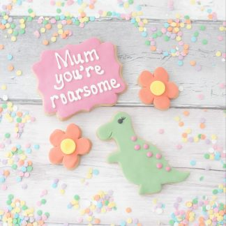 dinosaur mothers day cookie gift