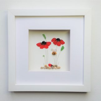 sea glass poppies, mother's day gift, for her