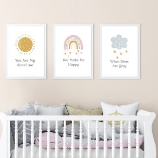 you are my sunshine nursery childrens prints