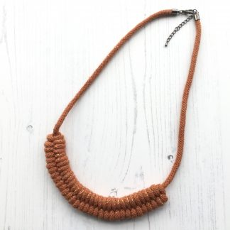 Textile Cotton Cord Necklace