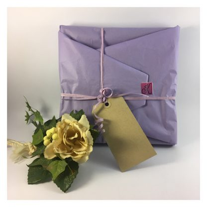 Lilac tissue paper Gift wrapping of Hare & Moon Plaque