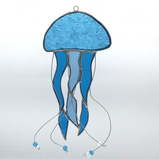 Jelly Fish Stained Glass Suncatcher