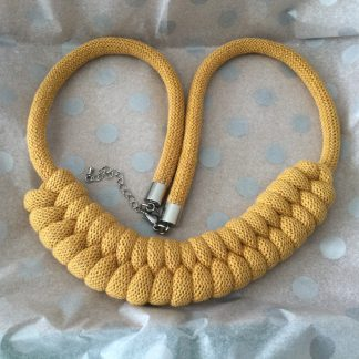 Chunky Cotton Cord Statement Necklace