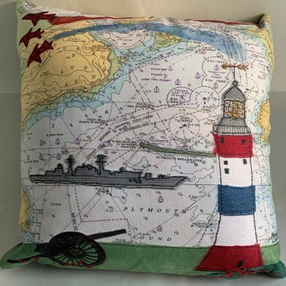 Armed Forces Day cushion by Hannah Wisdom Textiles