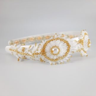 CherylsJewellery - White Peacock Feather Headband (1)