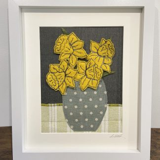 Daffodils-on-the-Kitchen-Table-Mixed-Media-Textile-Art-by-Louise-Hancox-Textile-Artist