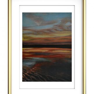 Beach Sunset Love Heart Sky A4 Print- Energy Art Landscapes