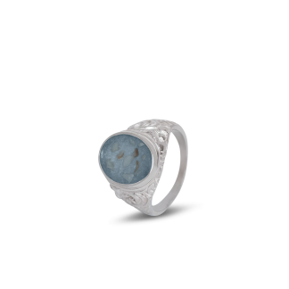 Embossed Mens Ashes Ring