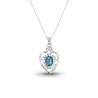 Celtic Heart Memorial Ashes Necklace