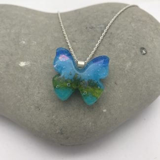Seascape butterfly necklace